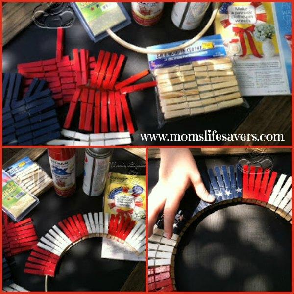 Patriotic Wreath DIY - a family friendly craft