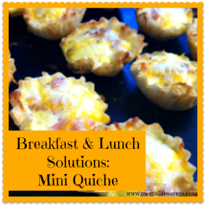 Breakfast and Lunch Solutions – Mini Quiches!