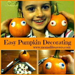 Easy Pumpkin Decorating – The Eyes Have It!