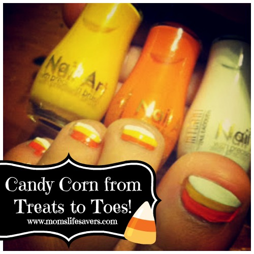 Candy Corn from Treats to Toes with Mom's Lifesavers
