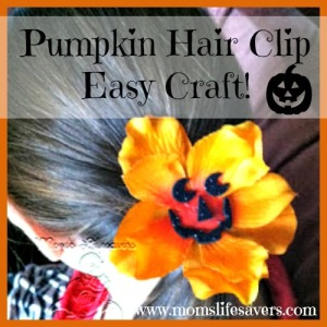 Pumpkin Hair Clip – Easy Craft!