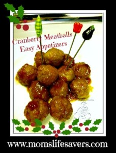 Cranberry Meatballs – Easy Appetizers!