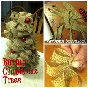 Burlap Christmas Trees DIY