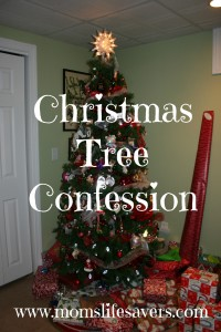 Mommy Musing – Christmas Tree Confession