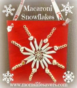 Macaroni Snowflakes DIY
