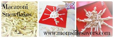 Macaroni Snowflakes Mom's Lifesavers