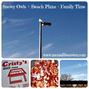 Snowy Owls + Beach Pizza = Family Time
