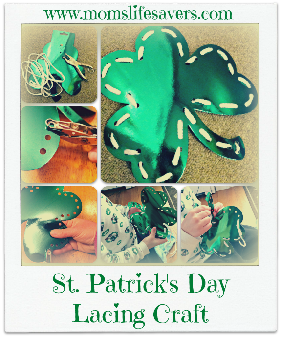 st patricks day lacing craft