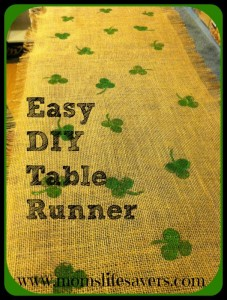 Easy Burlap Table Runner – St. Patrick's Day