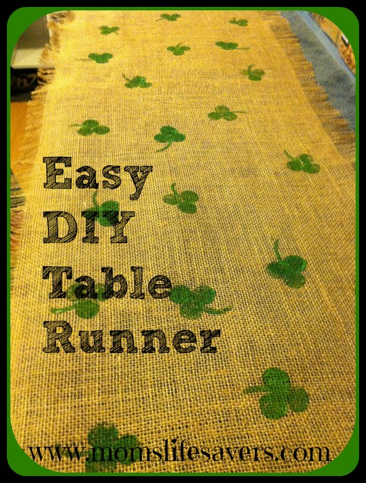 Easy Burlap Table Runner Mom's Lifesavers