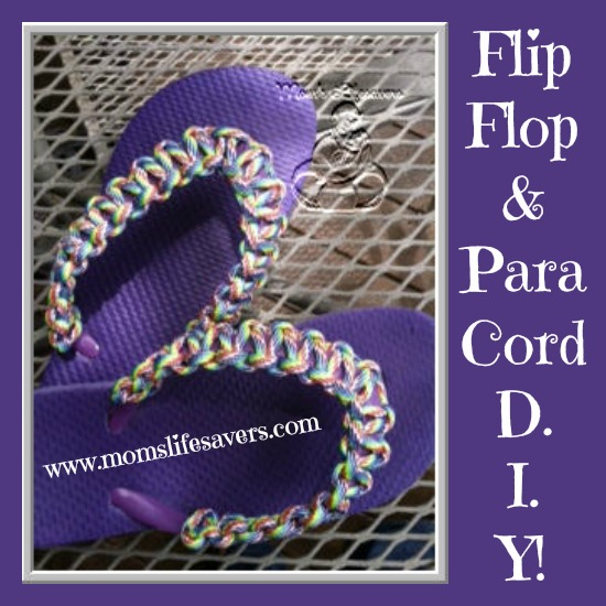 Paracord Flip Flops by Mom's Lifesavers