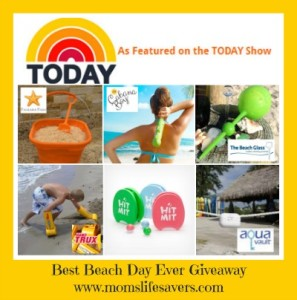 Best Beach Day Ever Giveaway - Mom's Lifesavers