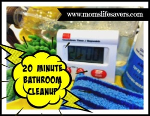 20 Minute Bathroom Cleanup