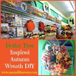 Dollar Tree Autumn Wreath DIY with Mom's Lifesavers