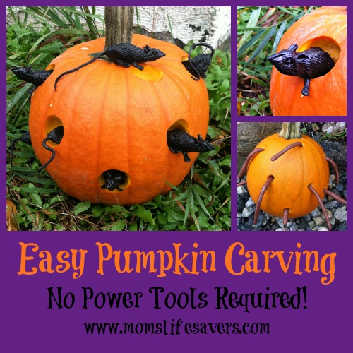 easy pumpkin carving with moms lifesavers - Easy Pumpkin Carvings