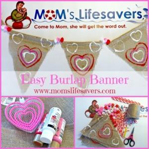 Easy Valentine's Day Burlap Banner