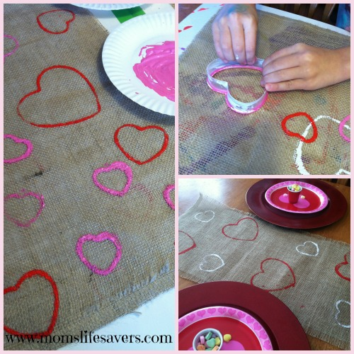 Make a Burlap Table Runner Moms Lifesavers