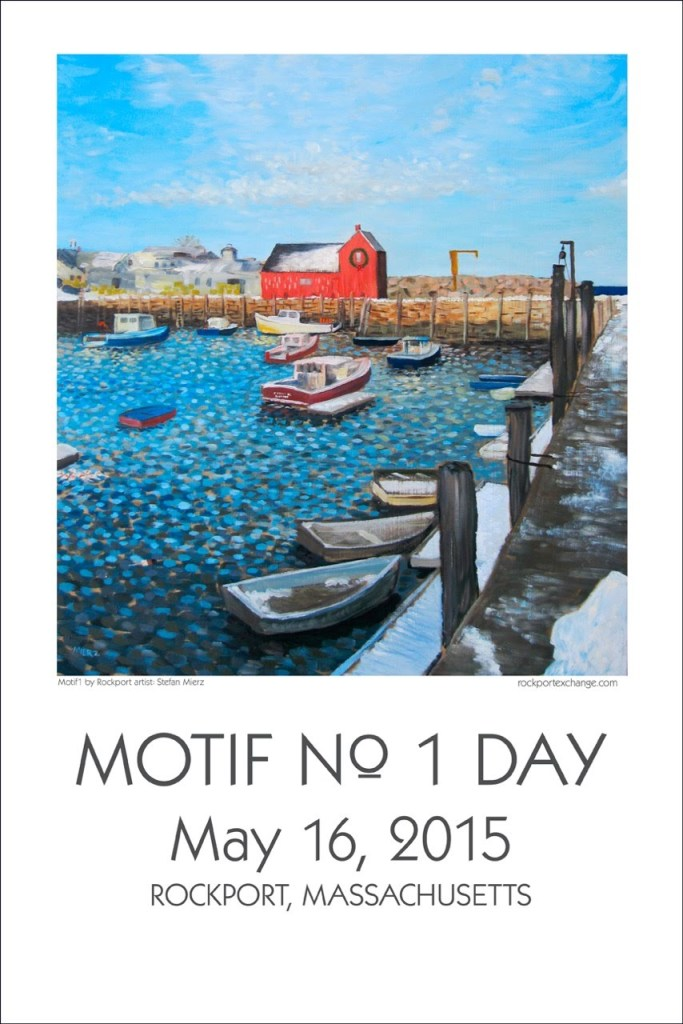 Artist Stefan Mierz of Rockport has contributed his painting of the Motif for this year's festival