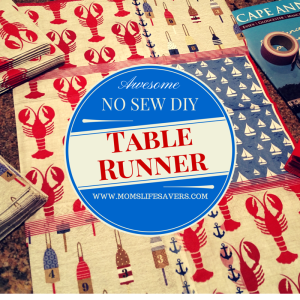 Easy No Sew Table Runner