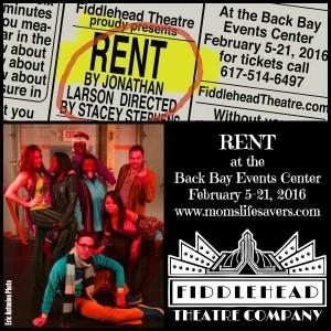 Fiddlehead Theatre Company Presents RENT