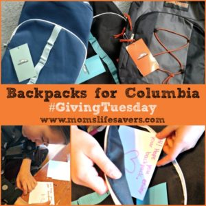 Backpacks for Colombia #GivingTuesday